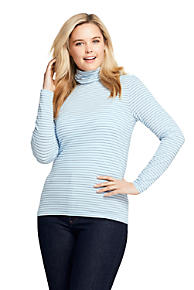 1311e4ca3921f Women s Plus Size Lightweight Fitted Turtleneck Layering