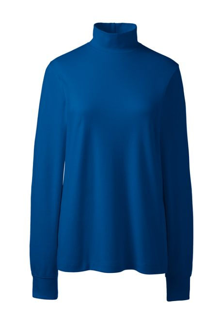 Women's Tall Relaxed Cotton Mock Turtleneck