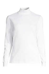 Women's Plus Size Relaxed Cotton Mock Turtleneck
