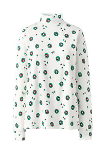 Stehkragen-Shirt Gemustert