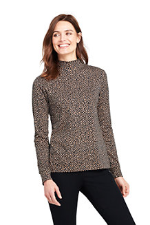 Women's Cotton Interlock Polo Neck