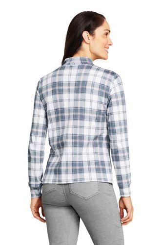Women's Tall Relaxed Cotton Long Sleeve Mock Turtleneck Print