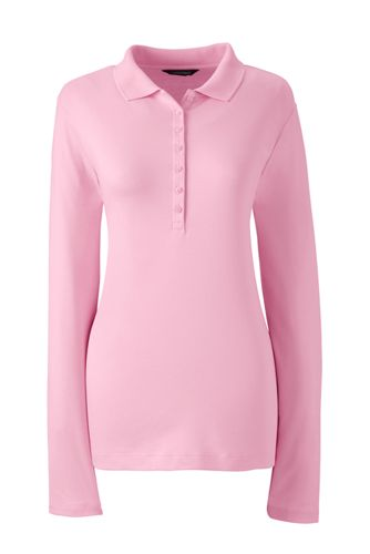 Women's Regular Long Sleeve Pima Polo