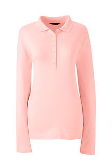 Women's Long Sleeve Pima Polo Shirt