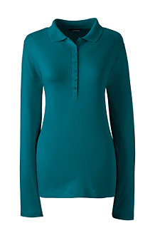 Women's Long Sleeve Pima Polo
