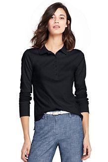 Pima-Poloshirt, Langarm