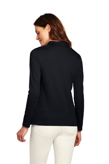Women's Long Sleeve Pima Cotton Polo Shirt