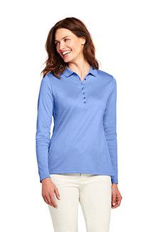 Women's Long Sleeve Pima Polo Shirt