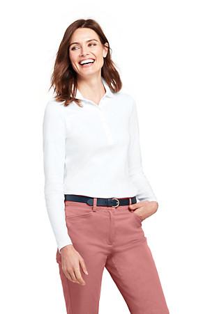 f9af204ca Women s Long Sleeve Pima Polo Shirt