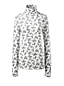 Women's Regular Cotton/Modal Print Roll Neck