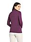 Le Col Roulé Ajusté Stretch à Motifs et Manches Longues, Femme Stature Standard