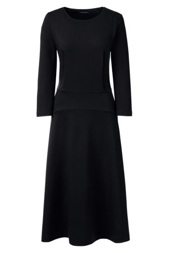 Women's Regular Ponte Jersey Flounce Dress