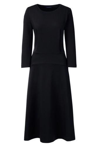 Women's Regular Ponte Jersey Flounce Dress