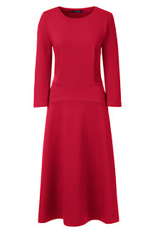 Women's Ponte Jersey Flounce Dress