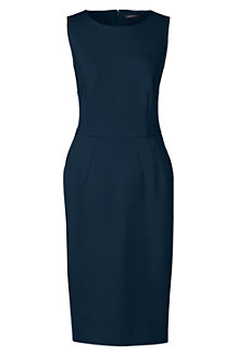 Women's Ponte Jersey Sleeveless Darted Dress