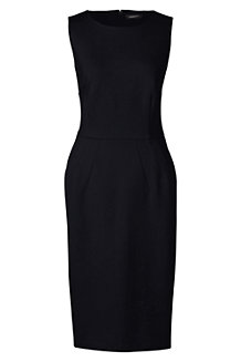 Women's Ponte Jersey Ottoman Sleeveless Darted Dress