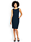 Women's Regular Ponte Jersey Ottoman Sleeveless Darted Dress