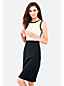 Women's Regular Sleeveless Colourblock Shift Dress