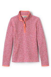Girls' Sweater Fleece Half-zip Jumper