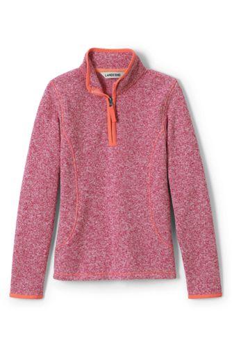 Little Girls' Sweater Fleece Half-zip Jumper