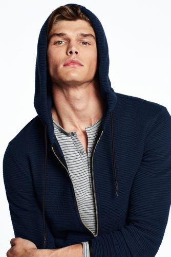 Men's Ottoman Hooded Zip Jacket