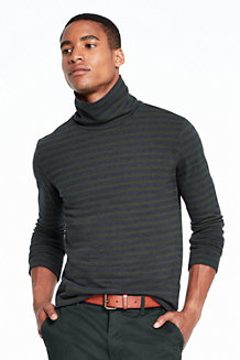 Men's Striped Polo Neck