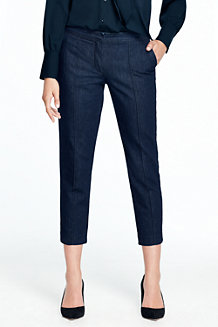 Knöchellange Slim Fit Denim-Hose für Damen