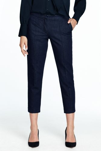 Women's Denim Slim Crop Trousers