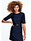 Women's 3-Quarter Sleeve Stripe Shift Dress