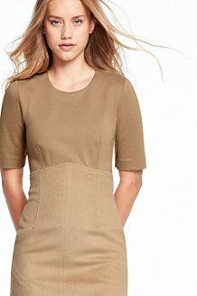 Empire-Kleid im Materialmix für Damen