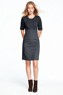 Women's Jewel Neck Empire Dress