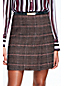 Women's Tweed Plaid Faux Wrap Skirt