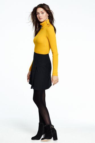 La Minijupe Aspect Portefeuille en Tweed Stretch Femme