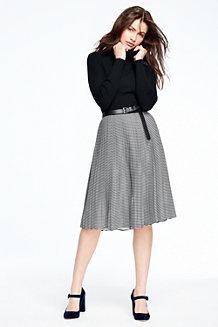 Women's Stripe Pleated Skirt