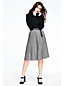 Women's Stripe Pleated Skirt