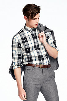 Men's Plaid Twill Shirt