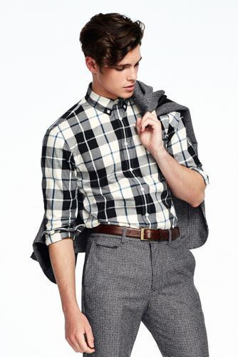 Modernes Flanellhemd für Herren, Langarm