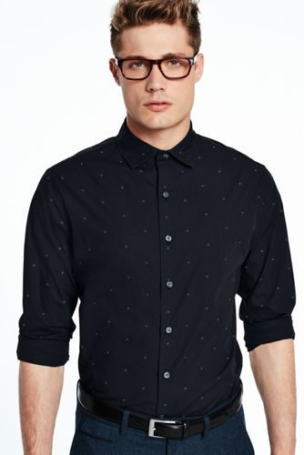 Men's Dot Poplin Shirt