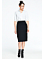 Women's Stretch Wool Faux Wrap Pencil Skirt