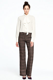 Women's Plaid Trousers