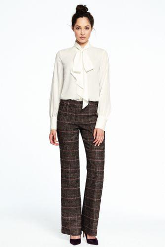 Women's Plaid Trousers