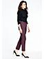 Le Pantalon Slim 7/8 en Laine Stretch Femme