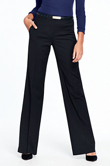 Women's Wide Leg Stretch Wool Twill Trousers