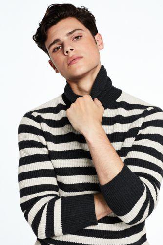 Men's Merino Waffle Roll Neck Sweater