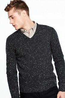 Men's Flecked V-neck Sweater