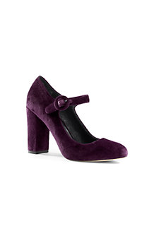Mary-Jane-Pumps aus Samt