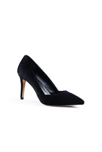 Women's Regular Velvet Court Shoes