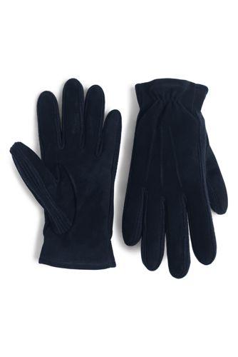 Men's Suede/rib-knit Gloves