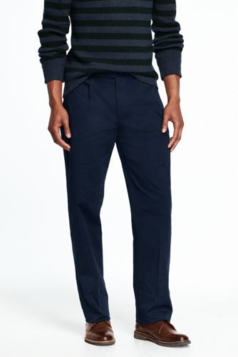 Men's Pleated Stretch Chinos