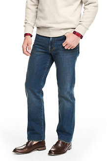 Vorgesäumte Regular Fit Denim-Jeans für Herren